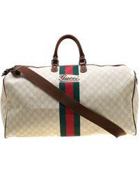 98585f1d6466e5 Gucci Vintage Web Original Gg Canvas Boston Bag in Natural for Men ...