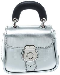 Burberry - Grey/black Patent Leather Dk88 Bag Charm - Lyst