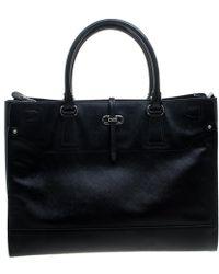 Ferragamo - Black Leather Large Briana Tote - Lyst