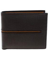 8968166a9dd3 Prada Saffiano Stripe Wallet Nero+fuoco+baltico in Blue for Men - Lyst