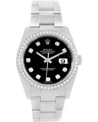 Rolex - Stainless Steel Diamond Datejust Men's Wristwatch 36mm - Lyst