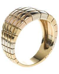 Van Cleef & Arpels - Vintage Textured 18k Three Tone Gold Ring - Lyst