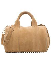 Alexander Wang - Nubuck Leather Rocco Satchel Bag - Lyst