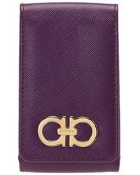Ferragamo - Purple Leather Iphone 4 Case - Lyst