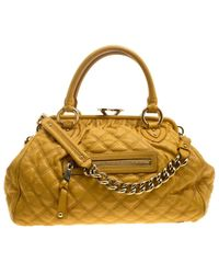 Marc Jacobs - Mustard Quilted Leather Stam Satchel - Lyst