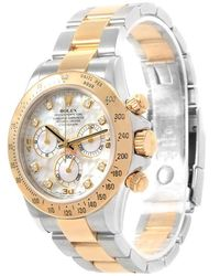 Rolex - Mop 18k Yellow Gold And Stainless Steel Cosmograph Daytona Men's Wristwatch 40mm - Lyst