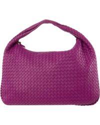 baacd9428 Bottega Veneta - Pink Intrecciato Woven Nappa Leather Large Veneta Hobo Bag  - Lyst