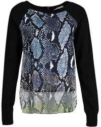 Diane von Furstenberg - Python Print Raglan Sleeve Lisha Sweatshirt S - Lyst
