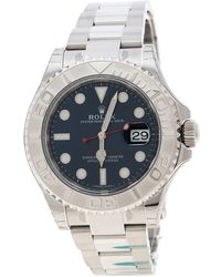 Rolex - Blue Stainless Steel Oyster Perpetual Yacht-master 116622 Men's Wristwatch 40 Mm - Lyst