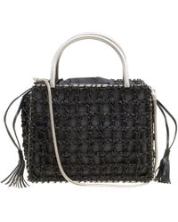 Ferragamo - Woven Leather Top Handle Shoulder Bag - Lyst