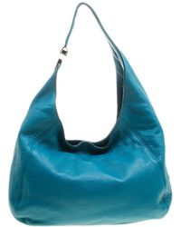9c37f6f45 MICHAEL Michael Kors - Teal Slouchy Leather Fulton Hobo - Lyst