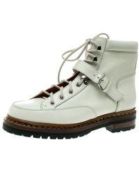 Hermès - Off Leather Ex Libris Detail Hiking Boots - Lyst
