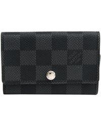 Louis Vuitton - Damier Graphite Canvas 6 Key Holder - Lyst