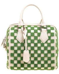 Louis Vuitton - Green Damier Cubic Fabric And Leather Limited Edition Speedy Cube Pm - Lyst