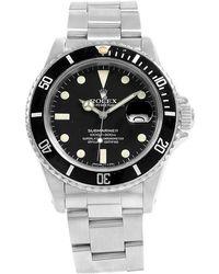 Rolex - Black Stainless Steel Submariner Date Men's Wristwatch 40mm - Lyst