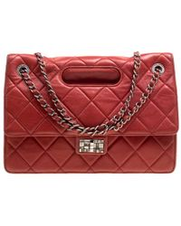 Chanel - Quilted Leather Jumbo Takeaway Flap Bag - Lyst