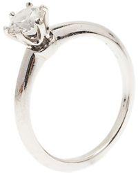 Tiffany & Co. - H Vvs1 Round Brilliant Diamond Solitaire Ring Size 52.5 - Lyst