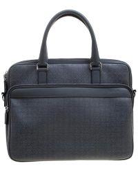 Ferragamo - Embossed Leather Laptop Bag - Lyst