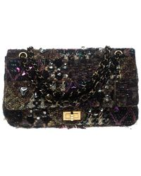 a16afa14a3f3 Chanel - Multicolor Tweed And Jeweled Limited Edition Lesage Reissue Flap  Bag - Lyst