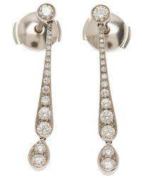 48ec3c4f2 Lyst - Tiffany & Co Platinum Diamond Earrings in Metallic