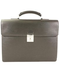 Louis Vuitton - Noir Epi Leather Neo Robusto I Briefcase - Lyst