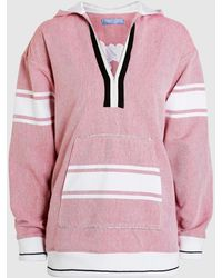 Koza | Embroidered Cotton Baja Hooded Top | Lyst