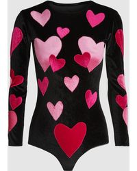 Alexia Hentsch - London Hearts Long Sleeve Bodysuit - Lyst