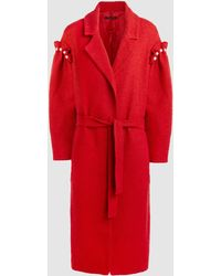 Mother Of Pearl - Webb Faux Pearl-embellished Tweed Coat - Lyst