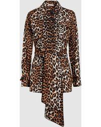 Ganni - Fabre Leopard-print Cotton Jacket - Lyst