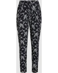 Co. - Monochrome Floral Print Trousers - Lyst