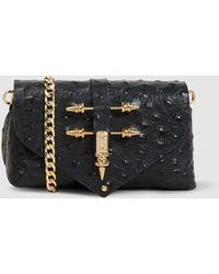 OKHTEIN - Ostrich-effect Leather Bag - Lyst