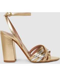Tabitha Simmons - Toni Metallic Leather Sandals - Lyst