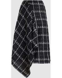 Roland Mouret Keaton Cotton-blend Tweed Midi Skirt