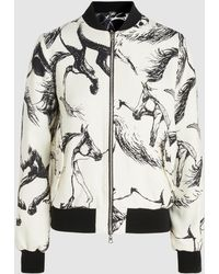 Adam Lippes - Printed Wool And Silk Reversible Bomber Jacket - Lyst