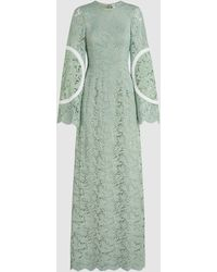 Madiyah Al Sharqi - Bell-sleeve Lace Gown - Lyst
