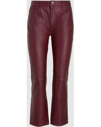 M.i.h Jeans - Daily Leather Cropped Trousers - Lyst