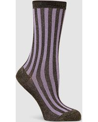 Rachel Comey - Hansel From Basel Metallic Striped Socks - Lyst