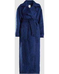Maison Rabih Kayrouz - Oversized Tie-waist Mohair Coat - Lyst