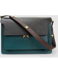 Marni - Trunk Tri-tone Large Leather Shoulder Bag - Lyst