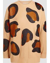 Marco De Vincenzo - Leopard Ribbed-knit Wool Jumper - Lyst