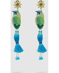 Mercedes Salazar - Bird Embellished Gold-tone Clip Earrings - Lyst