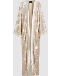 Metallic Printed High-Waisted Culottes Dima Ayad Sale Collections OnDcW