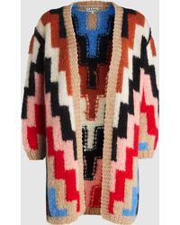 Ganni - The Julliard Mohair Knit Cardigan - Lyst