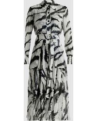 JOSEPH - Seldon Zebra-print Silk Midi Dress - Lyst