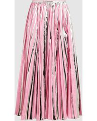 Marni - Pleated Metallic Midi Skirt - Lyst
