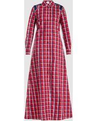 Stella Jean - Checked Cotton Maxi Dress - Lyst