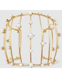 Erickson Beamon - Pearly Queen Gold-tone And Faux-pearl Cuff - Lyst