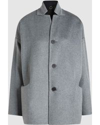 Oyuna - Reversible Two-toned Cashmere Coat - Lyst