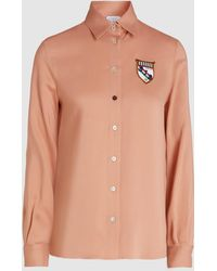 Stella Jean - Patch Detail Crepe Shirt - Lyst