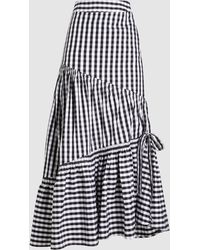 Teija - Check Cotton Maxi Skirt - Lyst